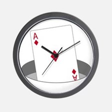 Ace In The Hole Wall Clock