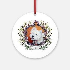 West Highland White Terrier Portrai Round Ornament