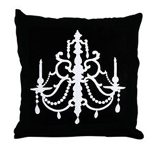 CHANDELIER SILHOUETTE Throw Pillow