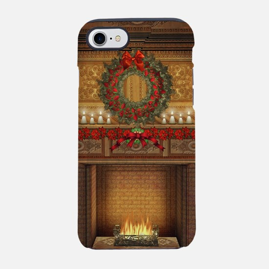 Christmas Fireplace iPhone 7 Tough Case