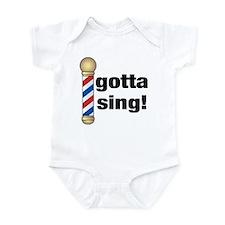 Gotta Sing Barbershop Infant Bodysuit