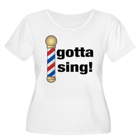 Gotta Sing Barbershop Women's Plus Size Scoop Neck