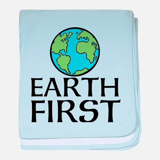 EARTH FIRST baby blanket