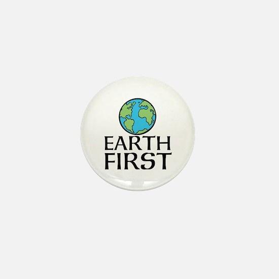 EARTH FIRST Mini Button