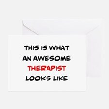 awesome therapist Greeting Card