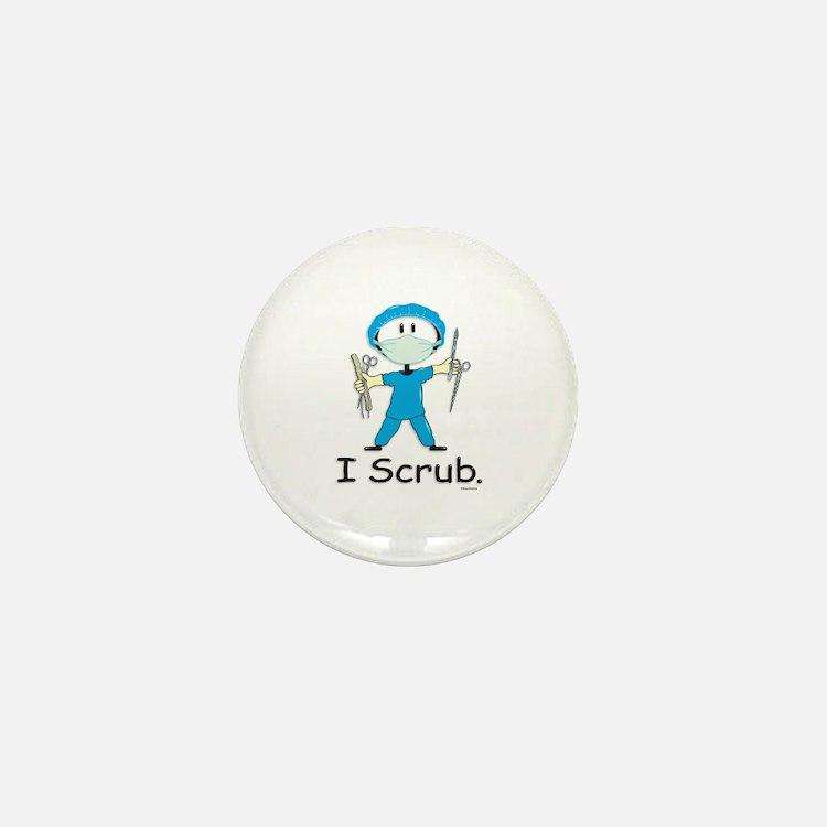 Surgical Tech Stick Figure Mini Button (100 pack)