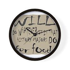 Homeless History Major Wall Clock