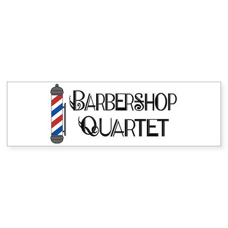 Barbershop Quartet Bumper Sticker