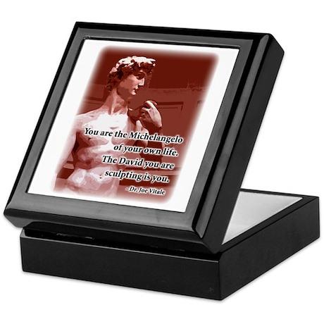 Vitale Michelangelo Quote Keepsake Box