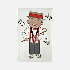 Little Barbershop Singer Rectangle Magnet