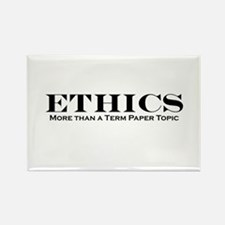 Ethics: More than Term Paper Rectangle Magnet