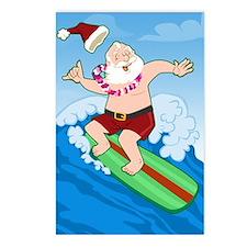 Surfing Santa Postcards (Package of 8)