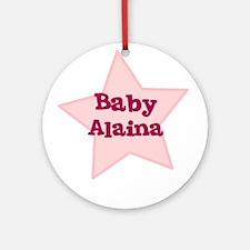 Baby Alaina Ornament (Round)