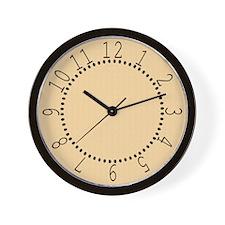 Tan Satin Look Wall Clock
