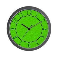 Textured Lime Green Look Wall Clock