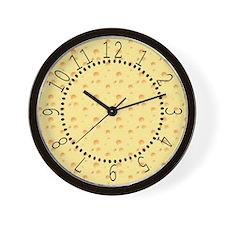 Dark Yellow Cheese Wall Clock