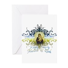 """""""Holy Mary, Mother of God"""" Greeting Cards (Pk of 1"""