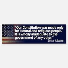 John Adams: Religion/Constitution Bumper Bumper Bumper Sticker