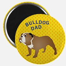 """Bulldog Dad 2.25"""" Magnet (100 pack)"""