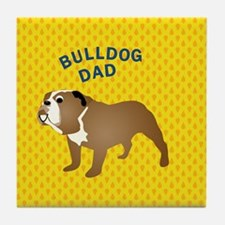 Bulldog Dad Tile Coaster