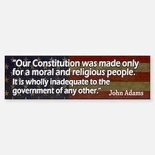 ADAMS: Moral & Religious people Bumper Bumper Sticker