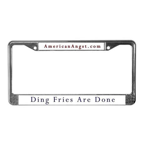 Ding Fries -AA- License Plate Frame