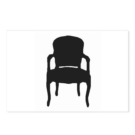 VINTAGE CHAIR SILHOUETTE Postcards (Package of 8)