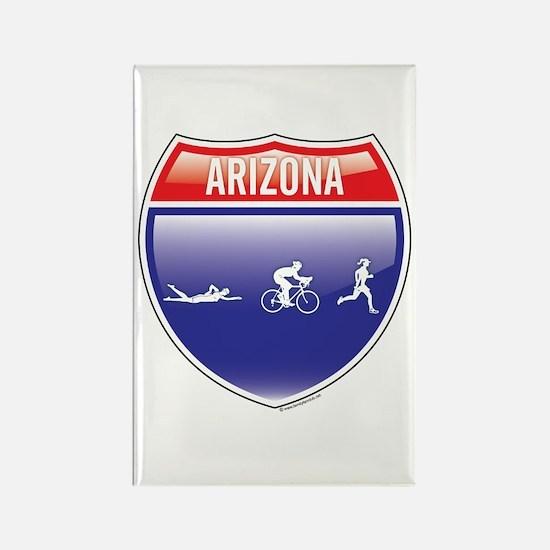 Interstate Arizona Triathlon Rectangle Magnet