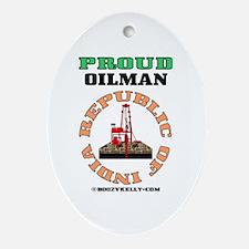 Proud Indian Oilman Oval OrnamentIndia,Oil