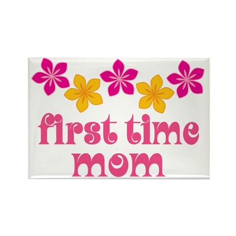 Cute First Time Mom Rectangle Magnet