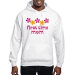 Cute First Time Mom Hooded Sweatshirt