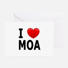I Love MOA Greeting Card