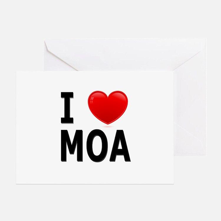 I Love MOA Greeting Card