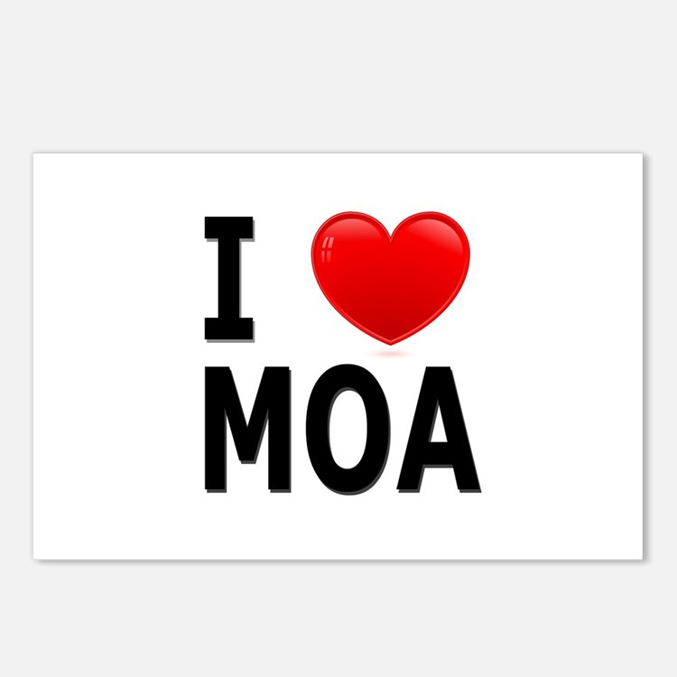 I Love MOA Postcards (Package of 8)