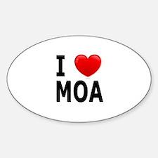 I Love MOA Oval Decal