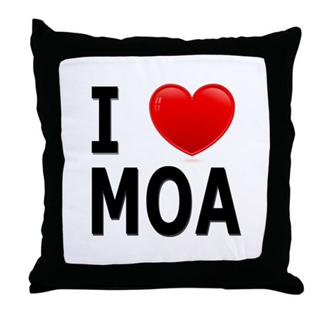 I Love MOA Throw Pillow
