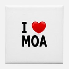 I Love MOA Tile Coaster