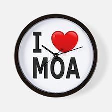I Love MOA Wall Clock