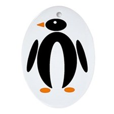 Penguin Oval Ornament
