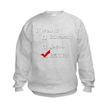 I want Edward AND Jacob Twili Sweatshirt