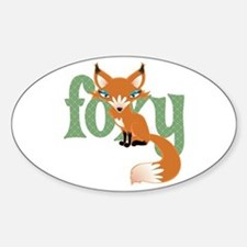 Foxy Red Oval Decal