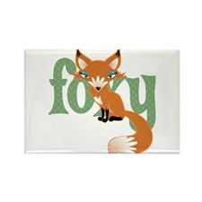 Foxy Red Rectangle Magnet