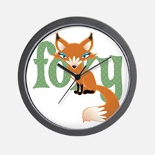 Foxy Red Wall Clock