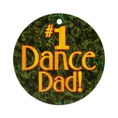#1 Dance Dad Christmas Ornament