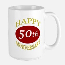 Happy 50th Anniversary Large Mug