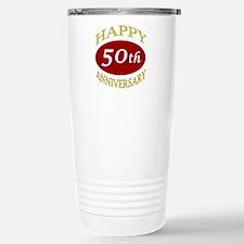 Happy 50th Anniversary Stainless Steel Travel Mug