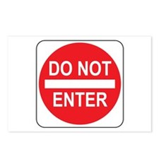 Do Not Enter Sign 1 Postcards (Package of 8)