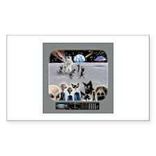 Cat Moon Party Rectangle Sticker 10 pk)