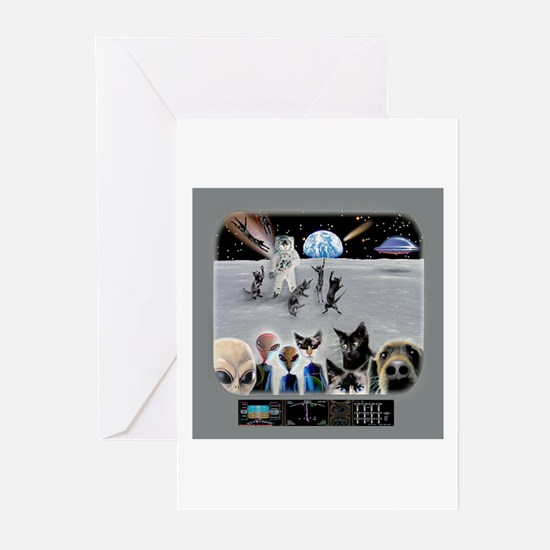 Cat Moon Party Greeting Cards (Pk of 20)