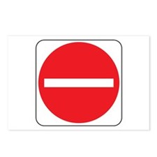 Do Not Enter Sign 2 Postcards (Package of 8)